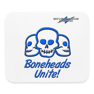 Boneheads Unite! (Blue) - Mouse pad Horizontal