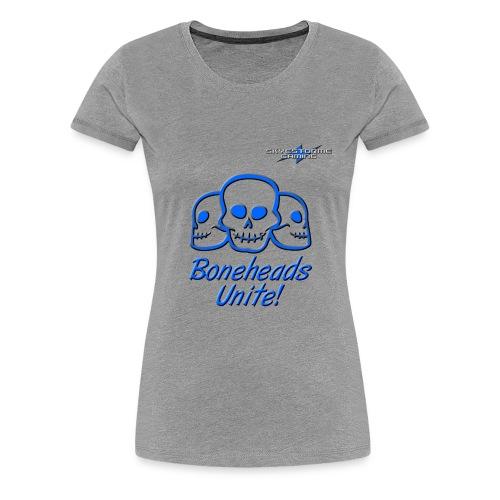 Boneheads Unite! (Blue) - Women's Premium T-Shirt