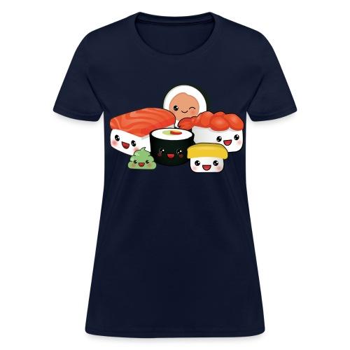 Women's Sushi Cartoon - Women's T-Shirt