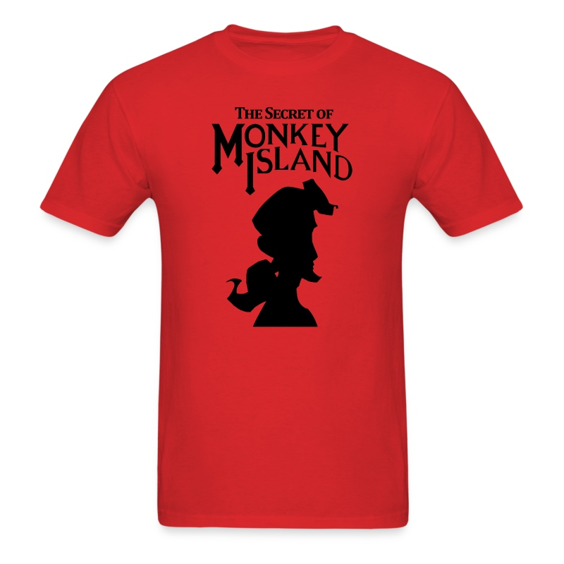 the secret monkey island - Men's T-Shirt