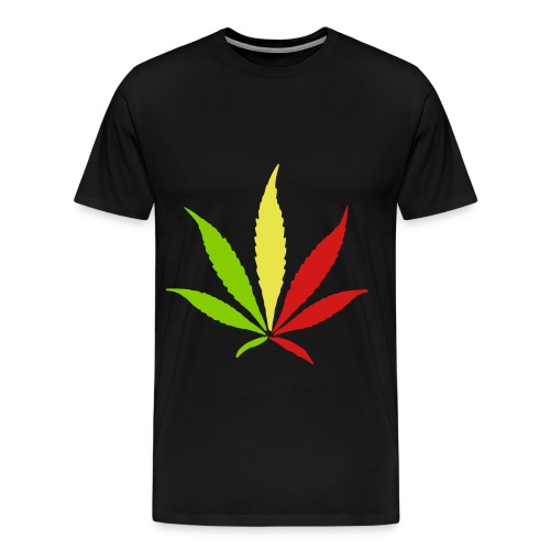 Black Rasta WeedShirt - Men's Premium T-Shirt