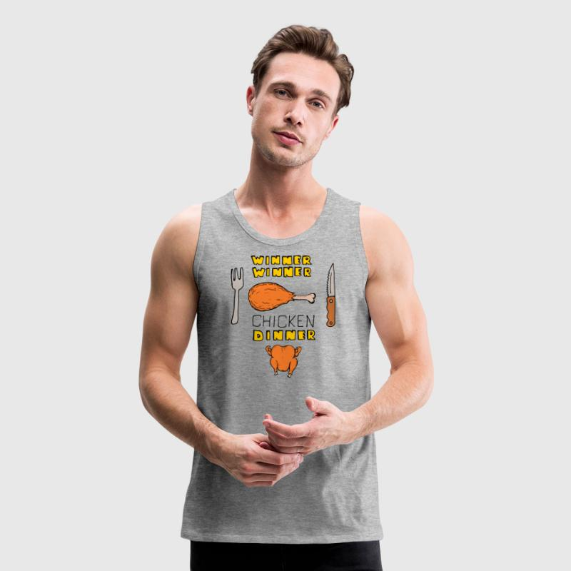 winner chicken dinner Tank Tops - Men's Premium Tank