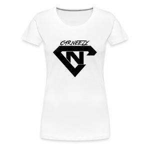 Plain Womens Black Logo Carneezy T-Shirt - Women's Premium T-Shirt