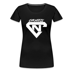 Plain Womens White Logo Carneezy T-Shirt - Women's Premium T-Shirt