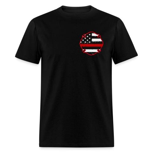 Firefighter Thin Red Line Flag Shirt - Men's T-Shirt