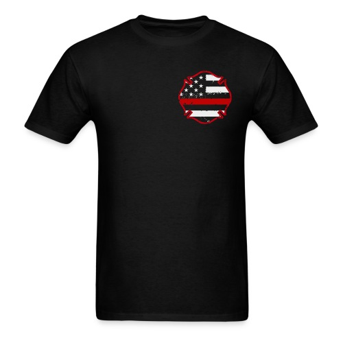 Firefighter Thin Red Line Flag Shirt - Men's T-Shirt