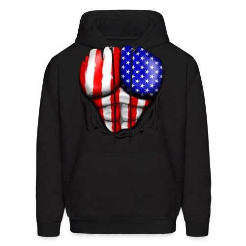 HOODIE T-Shirt Made in America - Men's Hoodie