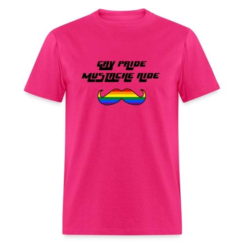 Gay Pride Mustache Ride Mens T-Shirt - Men's T-Shirt