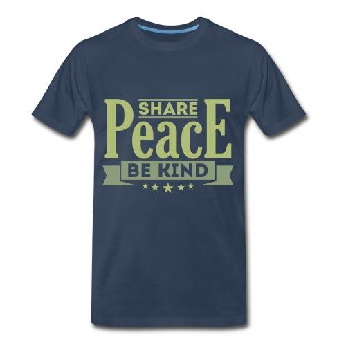 Share Peace Men's Shirt - Men's Premium T-Shirt