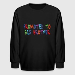 Promoted to big brother - Kids' Long Sleeve T-Shirt