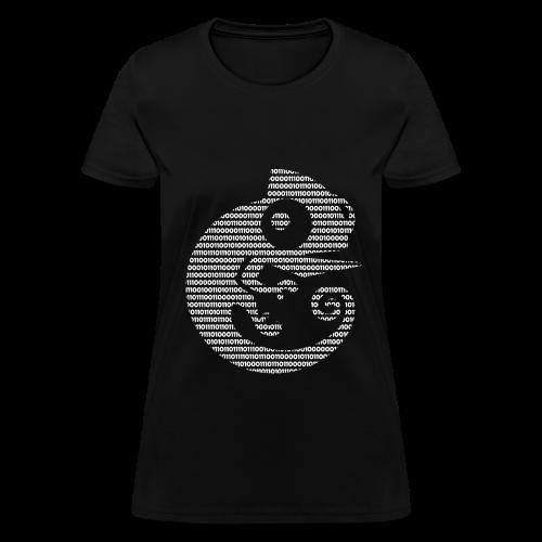 GNS3 Womens White Binary Chameleon Crew Neck - Women's T-Shirt
