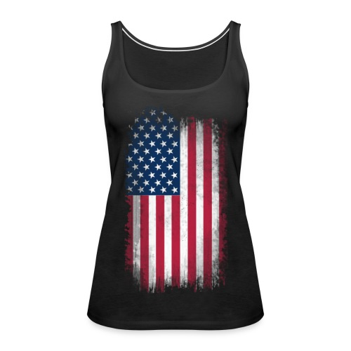 WOMEN'S Tank American Flag - Women's Premium Tank Top