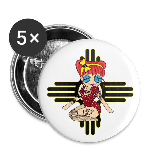 New Mexico Buttons - Buttons large 2.2'' (5-pack)