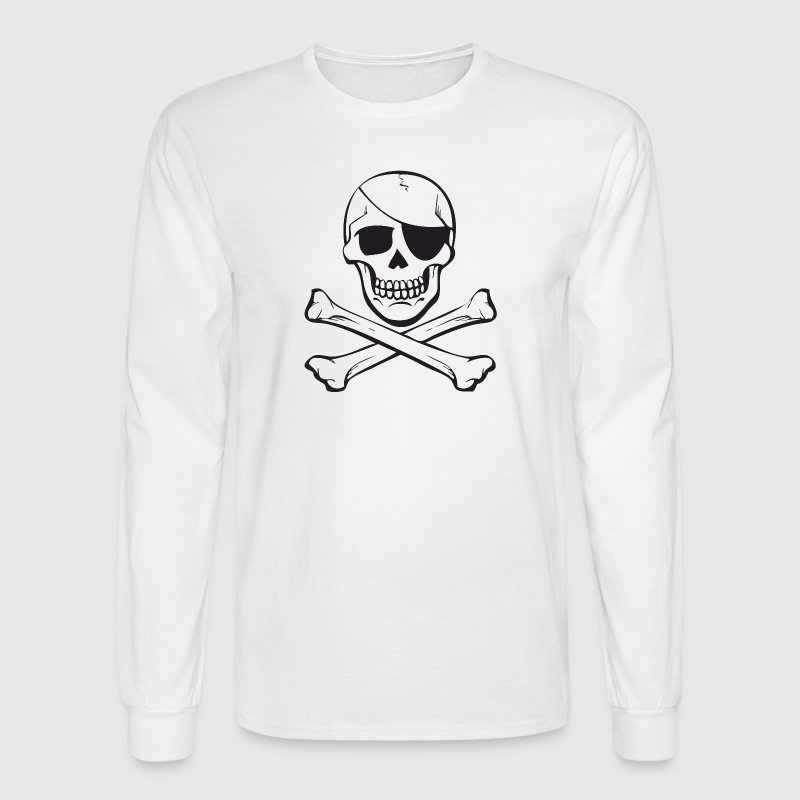Classic Skull & Crossbones Pirate Anarchy Long Sleeve Shirts - Men's Long Sleeve T-Shirt