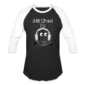 8-Bit Ghost DJ - Baseball T-Shirt