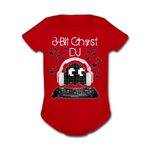 8-Bit Ghost DJ - Short Sleeve Baby Bodysuit