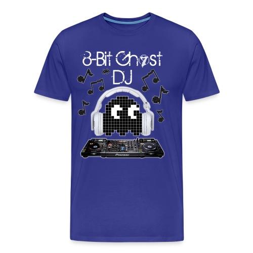 8-Bit Ghost DJ - Men's Premium T-Shirt