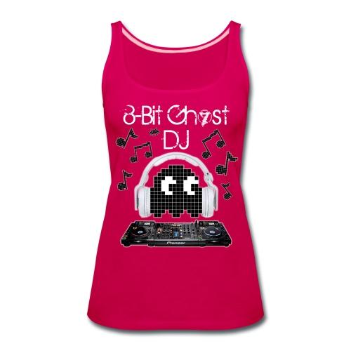 8-Bit Ghost DJ - Women's Premium Tank Top