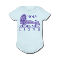 Baby & Toddler Shirts ~ Baby Short Sleeve One Piece ~ Holy Redeemer