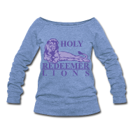Long Sleeve Shirts ~ Women's Wideneck Sweatshirt ~ Holy Redeemer