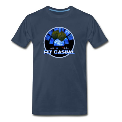 Fly Casual NAVY - Men's Premium T-Shirt
