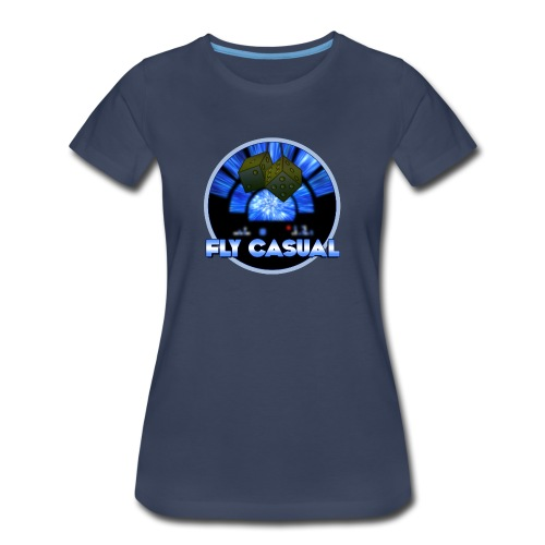 Fly Casual Lady's NAVY - Women's Premium T-Shirt