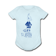 Baby & Toddler Shirts ~ Baby Short Sleeve One Piece ~ St Joseph