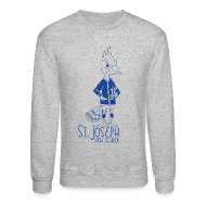 Long Sleeve Shirts ~ Men's Crewneck Sweatshirt ~ St Joseph