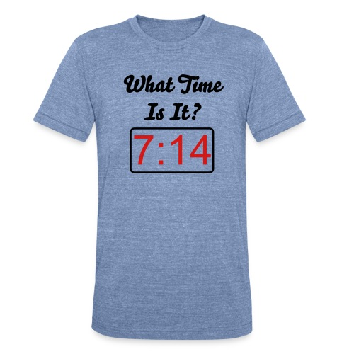 What time is it? - Unisex Tri-Blend T-Shirt