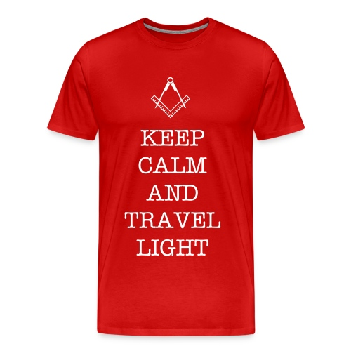 KEEP CALM  and TRAVEL LIGHT 3/4 XL - Men's Premium T-Shirt
