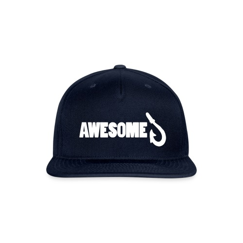 Totally Awesome Fishing Snapback Cap - Snap-back Baseball Cap
