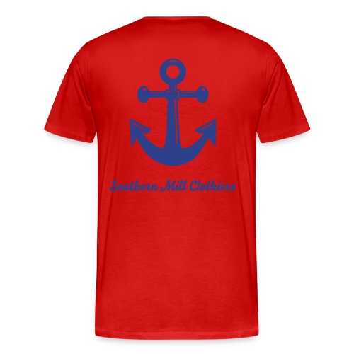 The Anchor Tee - Red - Men's Premium T-Shirt