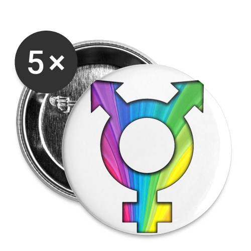 ONELOVE RAINBOW MALE - 56 mm (2,25)  - Buttons large 2.2'' (5-pack)