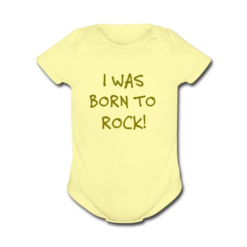 Born to Rock Baby One Piece - Short Sleeve Baby Bodysuit