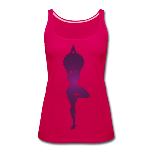 Purple Curvy Yogi tank - Women's Premium Tank Top