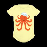 Baby & Toddler Shirts ~ Baby Short Sleeve One Piece ~ Octopus Nautical Sailor Baby T-shirt