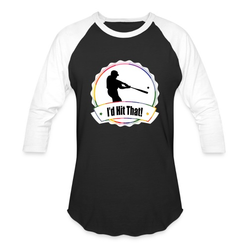 I'd Hit That Baseball Tee (White Logo) - Baseball T-Shirt