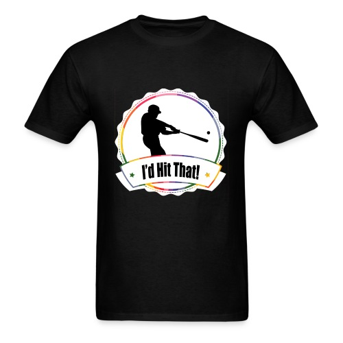I'd Hit That Simple Tee (White Logo) - Men's T-Shirt