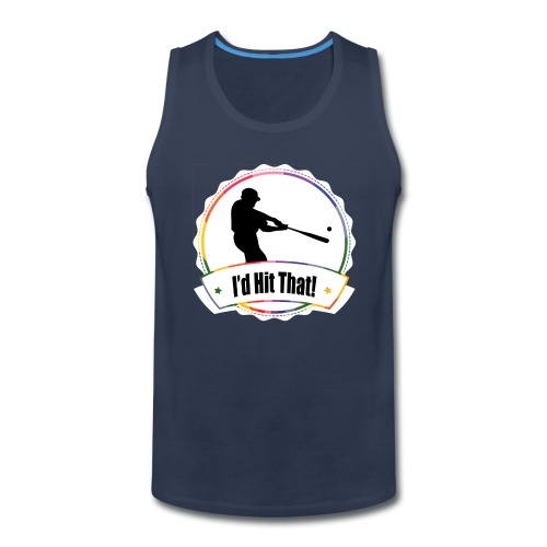 I'd Hit That Simple Tank (White Logo) - Men's Premium Tank