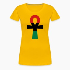 Red, Black & Green Ankh Women's T-Shirts