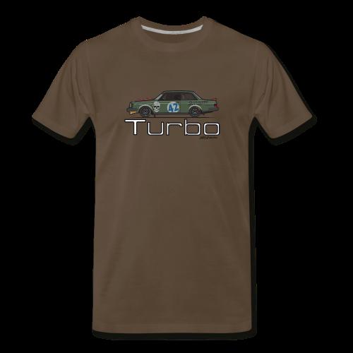 Volvo 242 Turbo Track Car (Olive) - Men's Premium T-Shirt