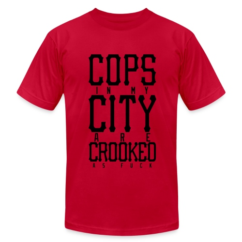 CROOKED - Men's  Jersey T-Shirt