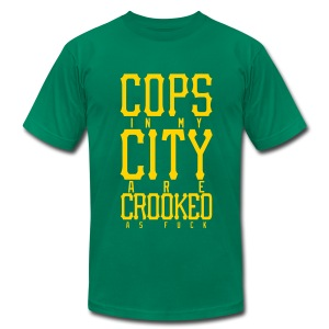 CROOKED - Men's Fine Jersey T-Shirt