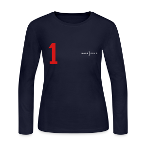 Hope #1 Red White Blue Jersey Long Sleeve Tee - Women's Long Sleeve Jersey T-Shirt