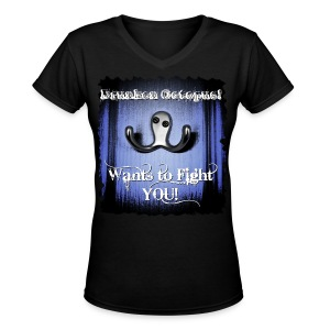 Drunken Octopus - Women's V-Neck T-Shirt