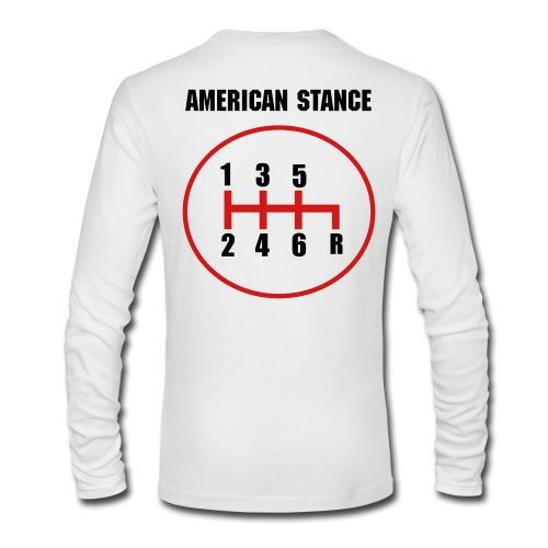 Gearshift american stance - Men's Long Sleeve T-Shirt by Next Level