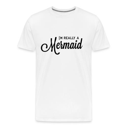 I'm Really a FitGirl Mermaid - Men's Premium T-Shirt