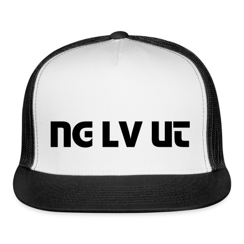 Black and White Trucker Hat - Trucker Cap