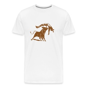 Bull vs Cowboy - Men's Premium T-Shirt