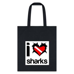I Love Sharks Tote - Tote Bag